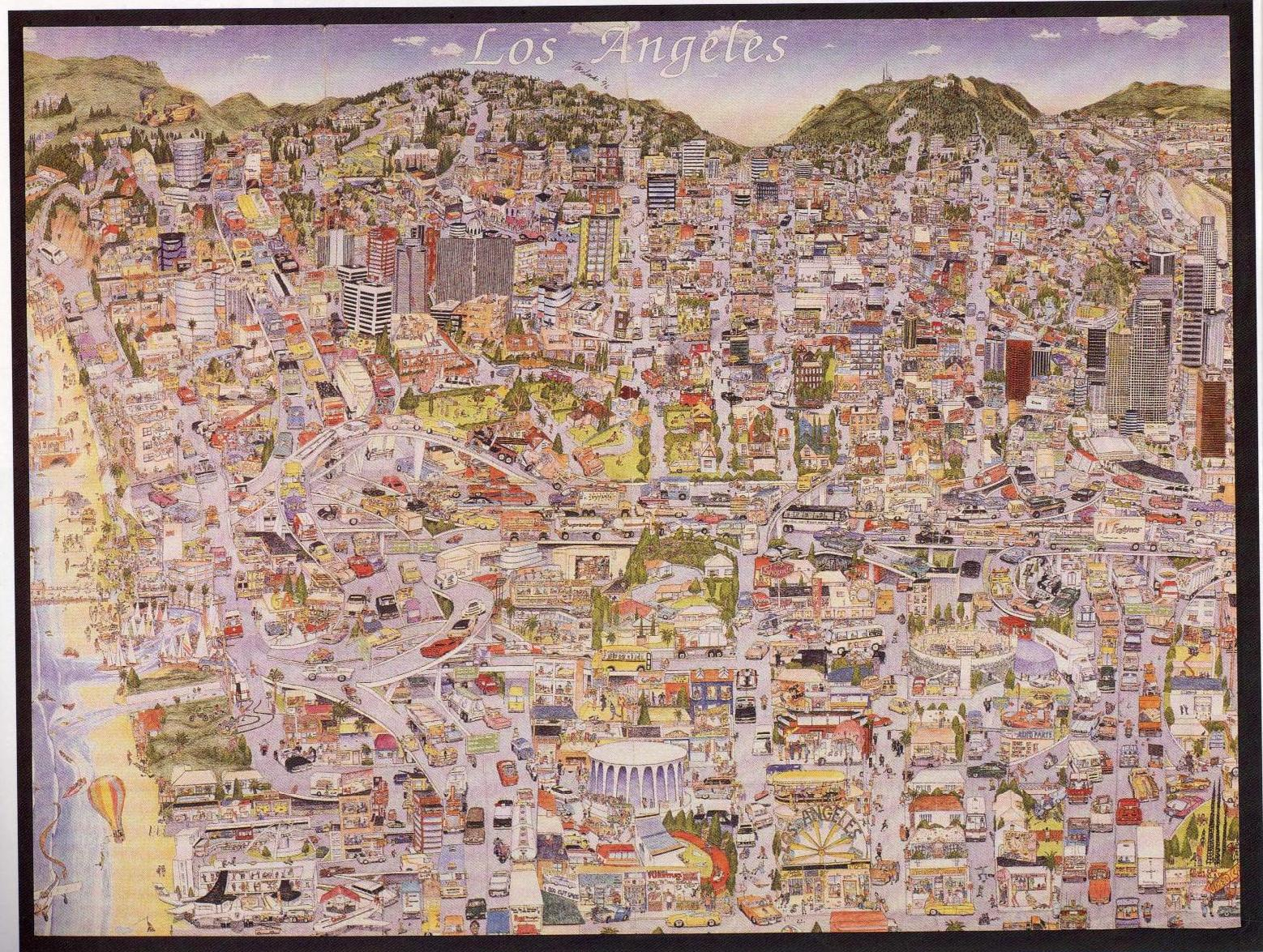 A Smile of Understanding – Tourist Map Of Los Angeles