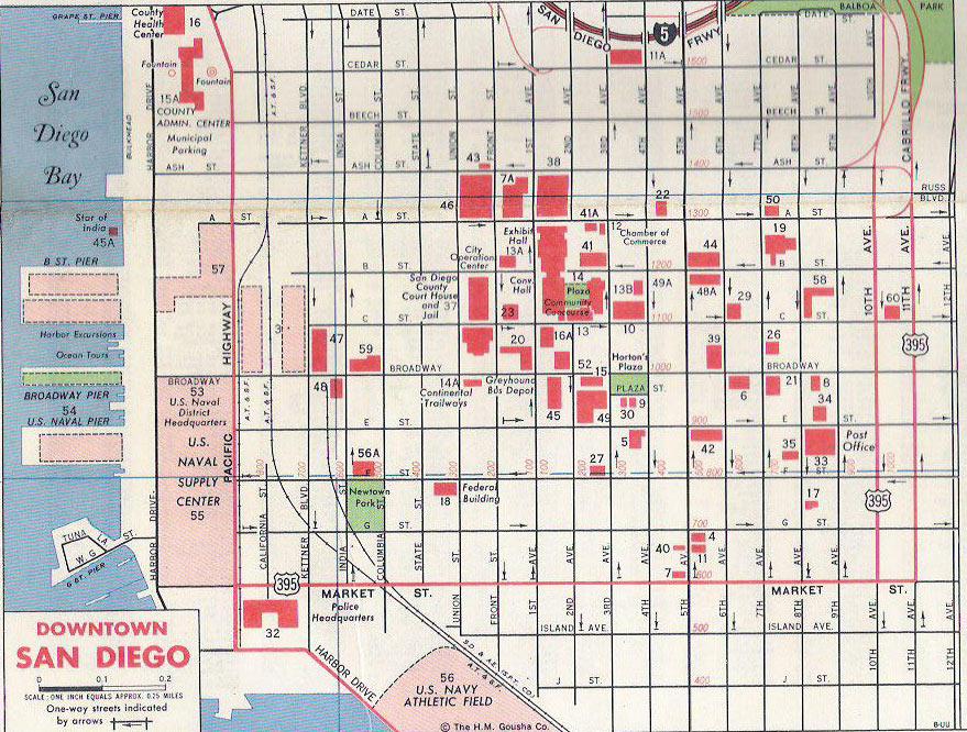 U S 395 San Diego Original Final Routes