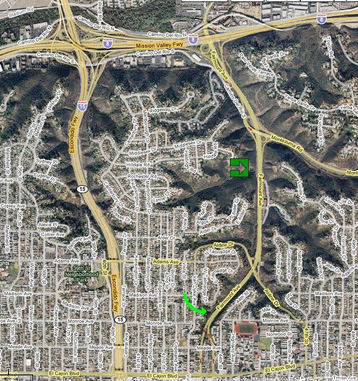 US San Diego Original Final Routes - Current aerial maps